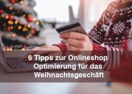 Weihnachten Onlineshop optimeiren