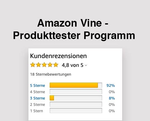 Amazon Vine Produkttester Programm